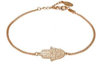John Greed Hamsa Hand Rose Gold Plated Sterling Silver Bracelet