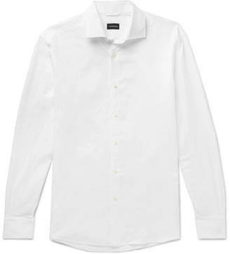 Ermenegildo Zegna Cotton and Linen-Blend Oxford Shirt - Men - White