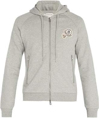 moncler grey hooded sweatshirt