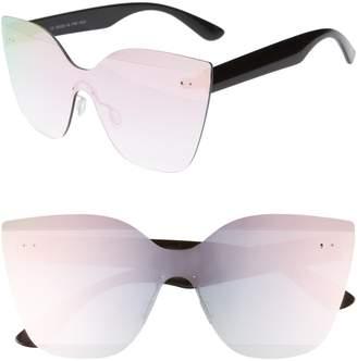 Cat Eye Glance Eyewear 147mm Shield Sunglasses