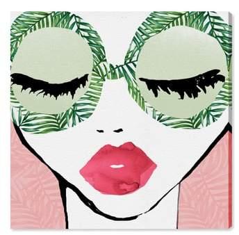 Plant Lady Glasses Canvas Wall Art