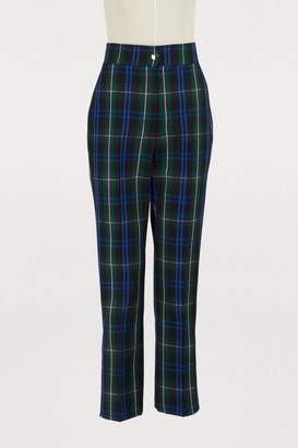 MSGM Plaid wool pants