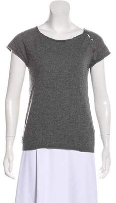 Zadig & Voltaire Cashmere Short Sleeve Top