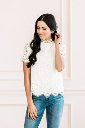 Rachel Parcell Falling For You Lace Top