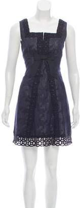 Anna Sui Bow-Embellished Mini Dress