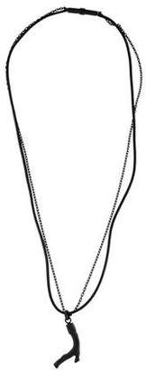 Bottega Veneta Leather Pendant Necklace