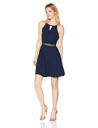 Amy Byer A. Byer Junior's Young Woman's Teen Fit & Flare Dress with Illusion Waist,7