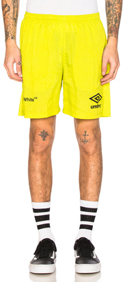 OFF-WHITE x Umbro Ripstop Shorts $536 thestylecure.com