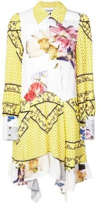 Ganni midi printed shirt dress