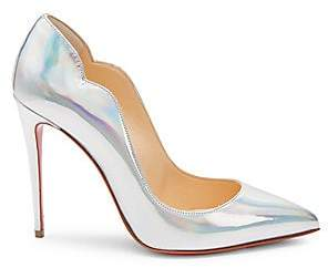 Christian Louboutin Women's Hot Chick 100 Iridescent Leather Pumps