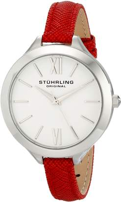 Stuhrling Original Women's 975.02 Vogue Analog Display Quartz Red Watch