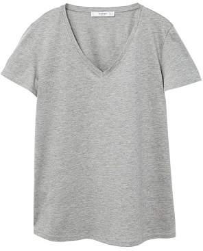 MANGO Mercerised t-shirt