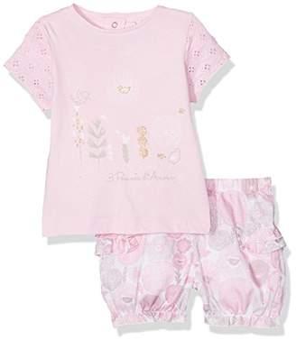 3 Pommes Baby Girls' Pink Clothing Set,(Manufacturer Size:9/12M) Pack of 2