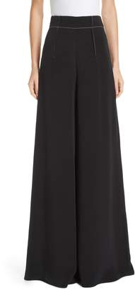 Cushnie et Ochs Silk High Waist Wide Leg Pants