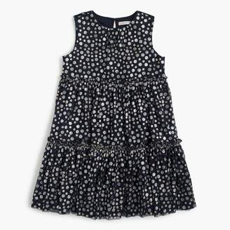 J.Crew Girls' tiered tulle dress with sparkly dots