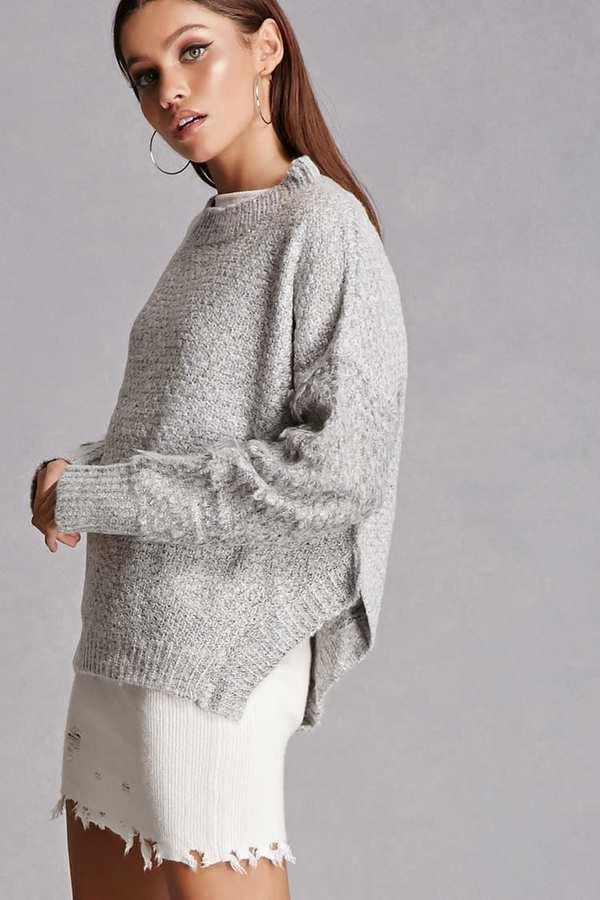 FOREVER 21+ Marled Mock Neck Sweater