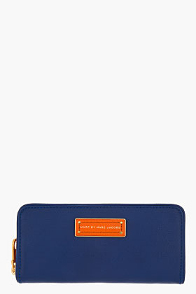 Marc by Marc Jacobs Blue Leather Zip-around Travel wallet