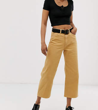 Monki Mozik wide leg organic cotton jean in mustard