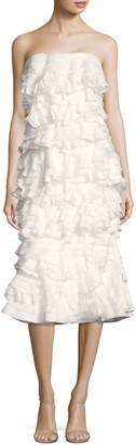 Maggie Marilyn Strapless Tiered Ruffle Dress