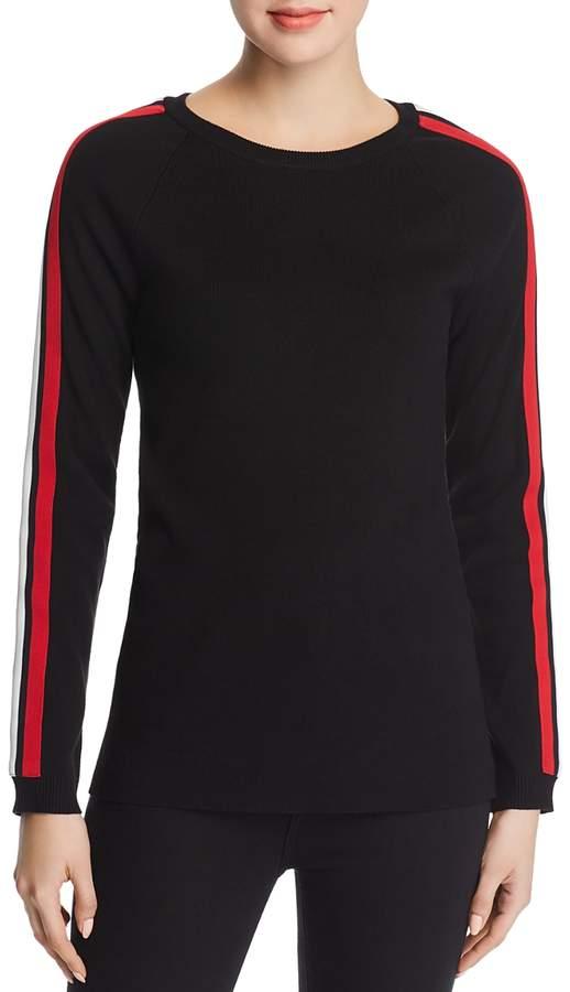 Track-Stripe Sweater