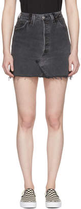 RE/DONE Black Levis Edition High-Rise Denim Miniskirt