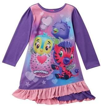 SGI Apparel Hatchimals Ruffle Bottom Nightgown (Little Girls & Big Girls)
