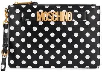 Moschino spot print clutch bag