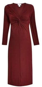 Topshop MATERNITY Twisted Front Midi Bodycon Dress