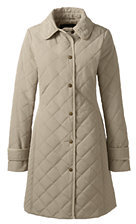 Lands' End Women's Tall Quilted PrimaLoft Coat-Smokey Olive $159 thestylecure.com