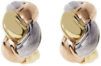 Arte D'oro Arte d'Oro Tri-color Braided Hoop Earrings, 18KGold