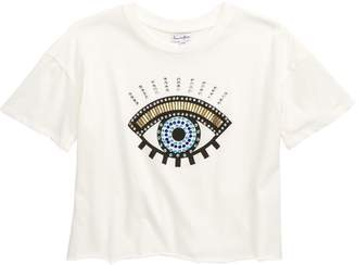 Love, Fire Embellished Eye Tee