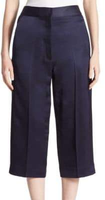 Victoria Beckham Cropped Silk-Blend Trousers