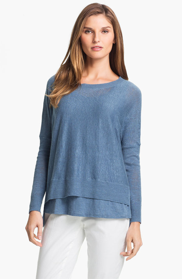 Eileen Fisher Lightweight Linen Tunic