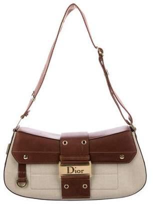 Christian Dior Leather-Trimmed Street Chic Shoulder Bag