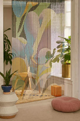 Floral Bloom Oversized Bamboo Beaded Curtain