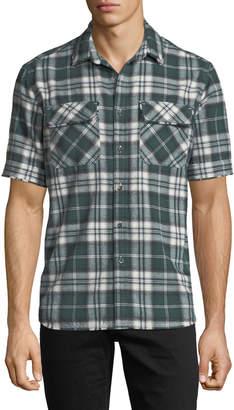 Ovadia & Sons Plaid Short-Sleeve Camp Shirt