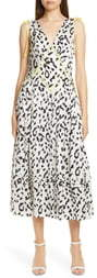 Self-Portrait Self Portrait Leopard Print Fit & Flare Midi Dress