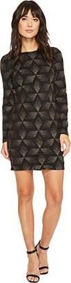 Vince Camuto Women's Long Sleeve Sheath Dress