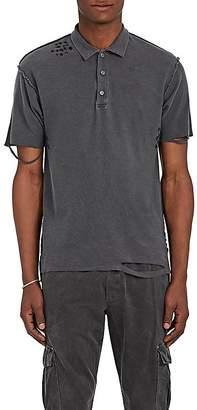 NSF Men's Distressed Cotton Piqué Polo Shirt