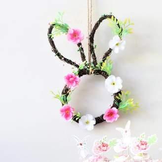 Little Ella James Bunny Ears Floral Wreath
