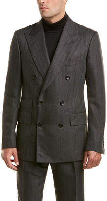 Tom Ford 2Pc Wool& Mohair-Blend Suit With Pleated Pant