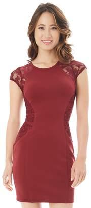 Iz Byer Juniors' Lace Bodycon Dress
