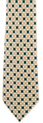 Fendi Silk Geometric Print Tie