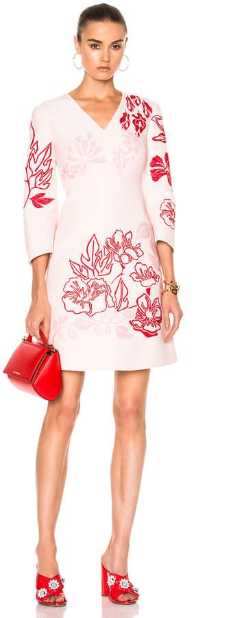 Fendi V Neck Printed Mini Dress