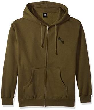 Obey Men's Reaper's Delight Zip Hooded Fleece Sweatshirt