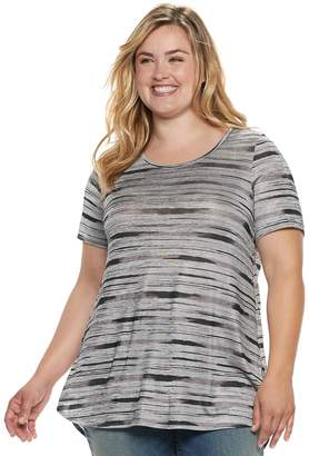Apt. 9 Plus Size Striped High-Low Tunic