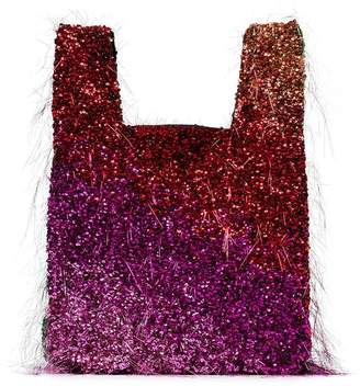 Ashish multicoloured tinsel embellished tote bag