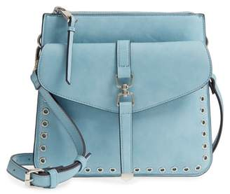 Sole Society Front Pocket Faux Leather Crossbody Bag