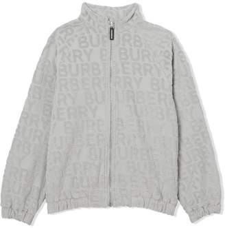 Burberry Logo Towelling Jacket