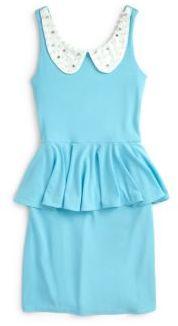 Un Deux Trois Girl's Pearl Peplum Dress